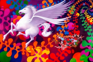 "Original painting by Leo Jean: ""Light Pegasus"""