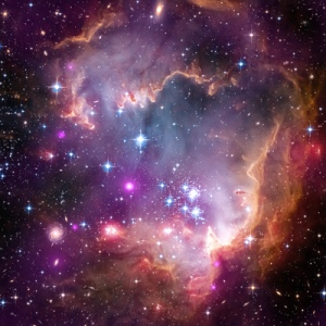 "Taken Under the ""Wing"" of the Small Magellanic Cloud Credit: NASA, ESA, CXC and the University of Potsdam, JPL-Caltech, and STScI"