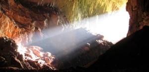 Sunlight in Cave